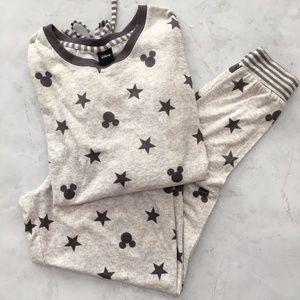 Disney Grey Mickey Mouse Stars Lounge Pajama Set